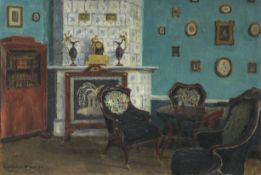 Igor Emmanuilovich Grabar (Russian, 1871-1960) Room Interior in Olgovo Room Interior in Olgovo in...