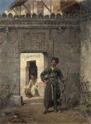 Stanislaus von Chlebowski (Russian-Polish, 1835-1884) The Circassian guards 55.5 by 41.2cm (21 7/...