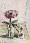 Vladimir Igorevich Yakovlev (Russian, 1934-1998) Still life with three red flowers