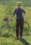 Klara Vlasova (Russian, born 1926) Cyclist unframed