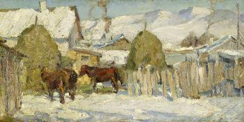 Leonard (Leonid) Viktorovich Turzhansky (Russian, 1875-1945) Winter morning