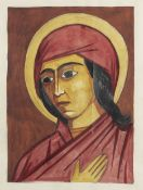 Natalia Goncharova (Russian, 1881-1962) Head of Saint
