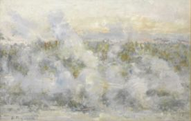 Nikolai Mikhailovich Romadin (Russian, 1903-1987) Misty Volga river