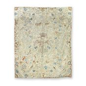 Of Royal Interest: An unusual Heraldic Embroidered Coverlet possibly early to mid 18th century, ...