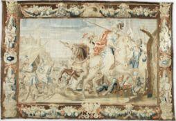 A striking Flemish Historical Tapestry of the Battle of Gaugamela 17th Century 520cm x 340.5cm