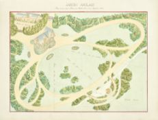 GARDENS - FRANCE Five original bird's-eye view designs for grand public gardens in the Swiss, Ger...