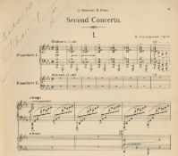 MUSIC - RACHMANINOV RACHMANINOV (SERGEI) Second concerto pour le piano avec orchestre... Op. 18. ...