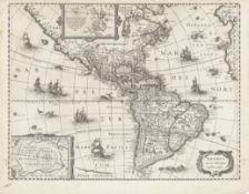 AMERICA HONDIUS (JODOCUS) America noviter delineata, [Amsterdam, c.1629-1630]