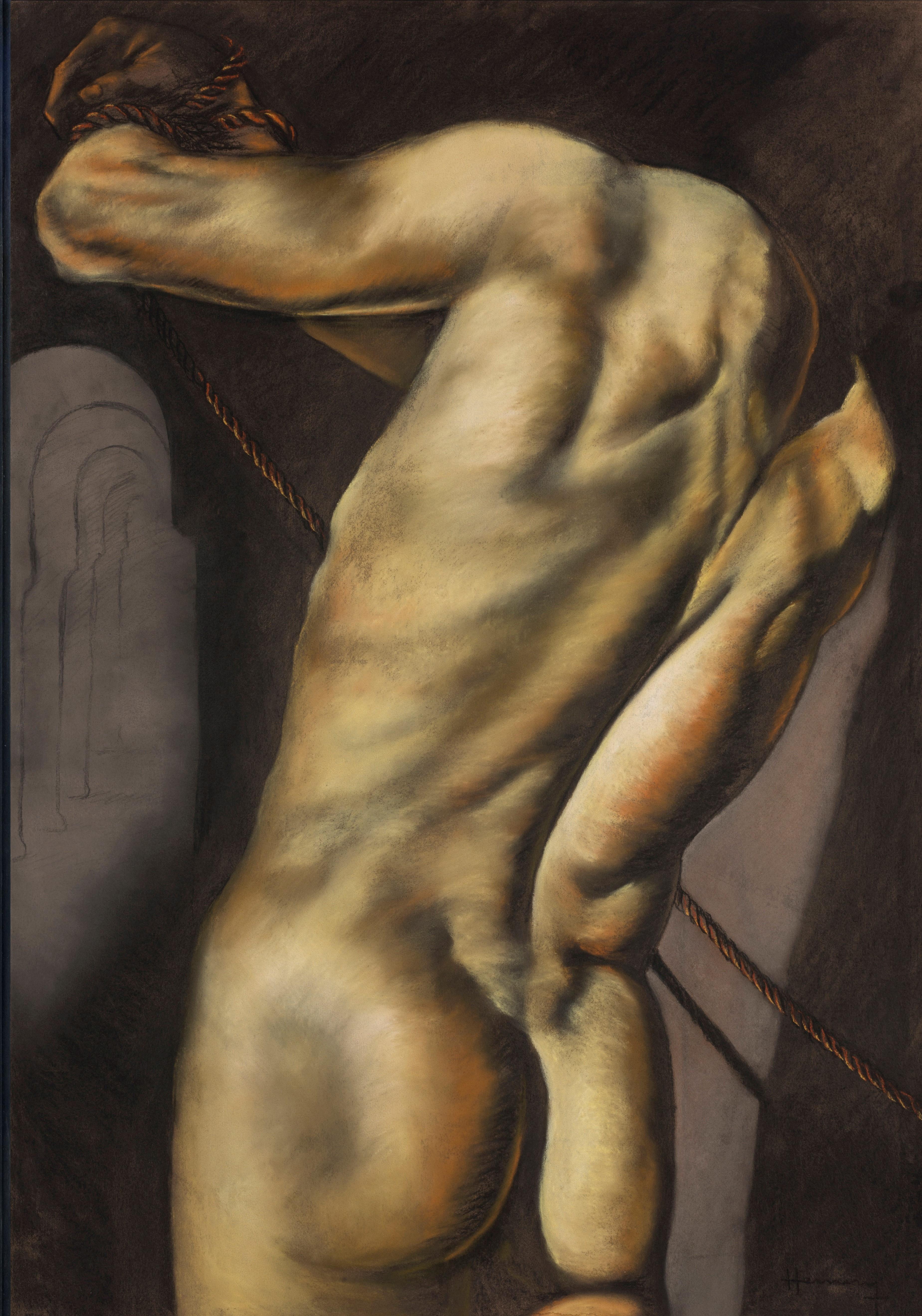 Patrick Hennessy (Irish, 1915-1980) Bound Figure 110 x 77.5 cm. (43 1/4 x 30 1/2 in.) (Executed c...