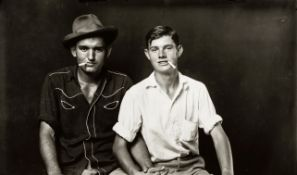 Mike Disfarmer (American, 1884-1959) Two Pals with Cigarettes (sheet 27 x 35cm (10 3/4 x 13 3/4i...