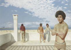 Patrick Hennessy (Irish, 1915-1980) Atlas Beach 63.7 x 89.2 cm. (25 1/8 x 35 1/8 in.) (Painted i...