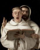 Aurèle Robert (Swiss, 1805-1871) Two Carthusian monks singing