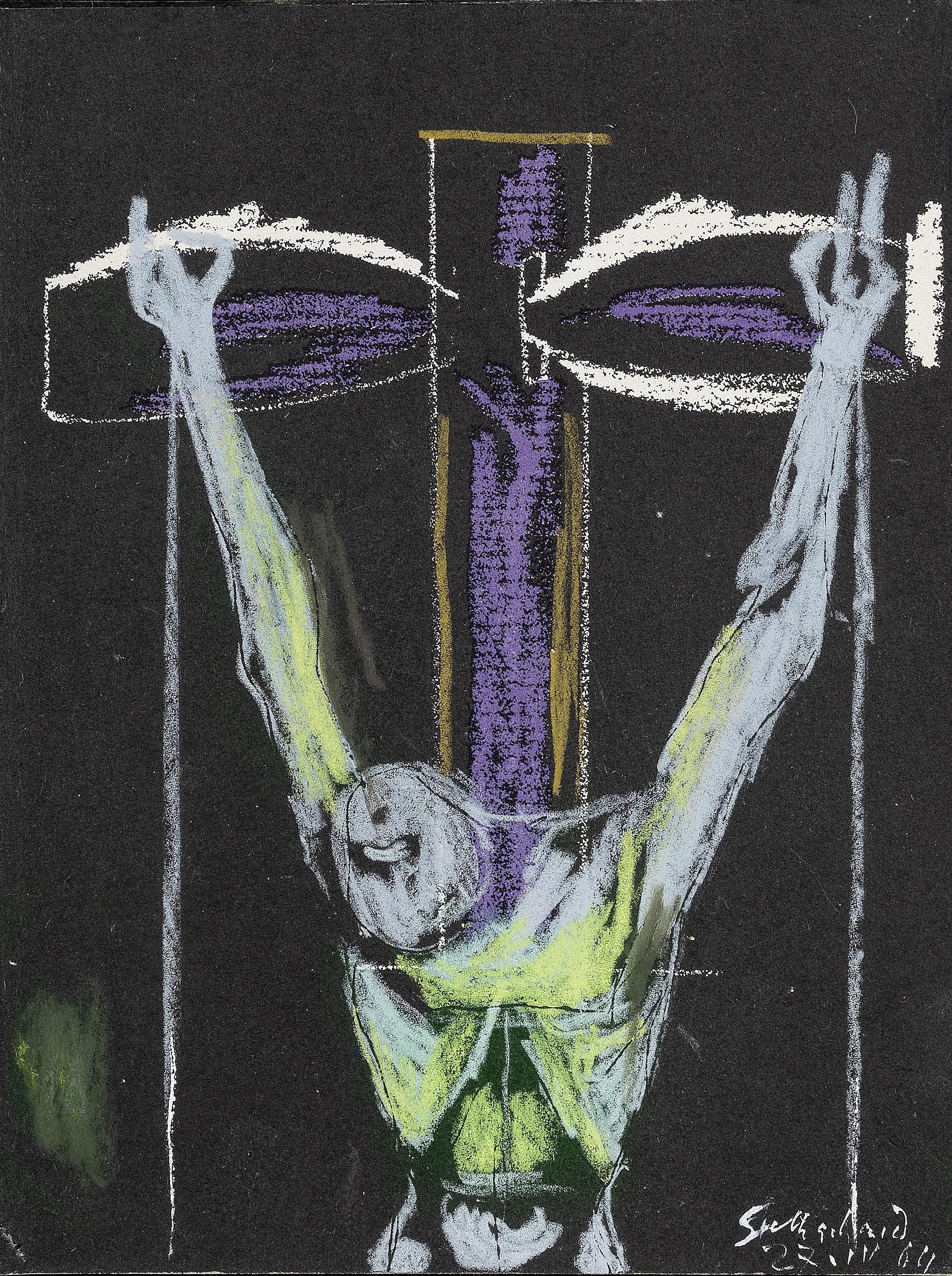 Graham Sutherland O.M. (British, 1903-1980) Crucifixion II 21.5 x 16.2 cm. (8 3/8 x 6 3/8 in.)