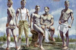 Mark Beard (American, born 1956) Swimmers