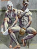 Mark Beard (American, born 1956) Two seated boxers