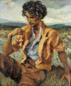 Marcel Dyf (French, 1899-1985) Mon pote le gitan, la fleur à la bouche (Painted in 1958)