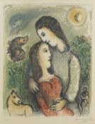 Marc Chagall (1887-1985) Les Adolescents Lithograph in colours, 1975, on Arches wove paper, signe...