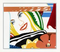 Tom Wesselmann (1931-2004) Bedroom Face #41 Screenprint in colours, 1990, on museum board, signed...