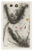 Joan Miró (1893-1983) Le Puisatier Etching, aquatint and carborundum in colours, 1969, on Ar...