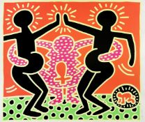 Keith Haring (1958-1990) Untitled, from The Fertility Suite Screenprint in colours, 1983, on wove...