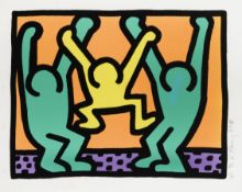 Keith Haring (1958-1990) One plate, from Pop Shop I Screenprint in colours, 1987, on wove paper, ...