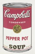 Andy Warhol (1928-1987) Pepper Pot from Campbell's Soup I Screenprint in colours, 1968, on wove ...