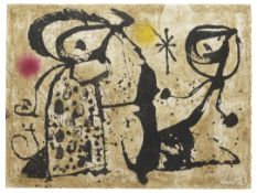 Joan Miró (1893-1983) Gaudi XIX Etching and aquatint in colours, 1979, on Arches wove paper...
