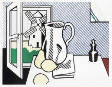 Roy Lichtenstein (1923-1997) Still Life with Windmill Lithograph and screenprint in colours with ...