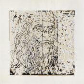 Mario Schifano (1934-1998) Leonardo Da Vinci Screenprint in colours, circa 1980, on pieces of bro...
