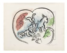 Marc Chagall (1887-1985) Le Coeur du cirque Lithograph in colours, 1967, on Arches wove paper, si...