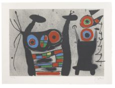 Joan Miró (1893-1983) Plate II from Le Lézard aux plumes d'or Lithograph in colours, 19...