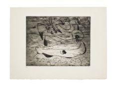Joan Miró (1893-1983) L'Aigle et la Femme la Nuit Etching and drypoint, 1938, on Arches wove...