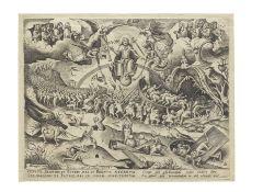 After Pieter Bruegel the Elder (1525-1569) by Pieter van der Heyden (1530-1572) The Last Judgemen...