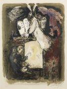 Marc Chagall (1887-1985) Le Songe du Peintre Lithograph in colours, 1967, on Arches wove paper, s...