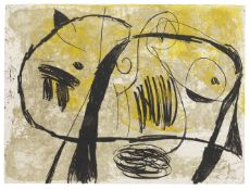 Joan Miró (1893-1983) La Commedia dell'Arte V Etching in colours, 1979, on Arches wove paper...
