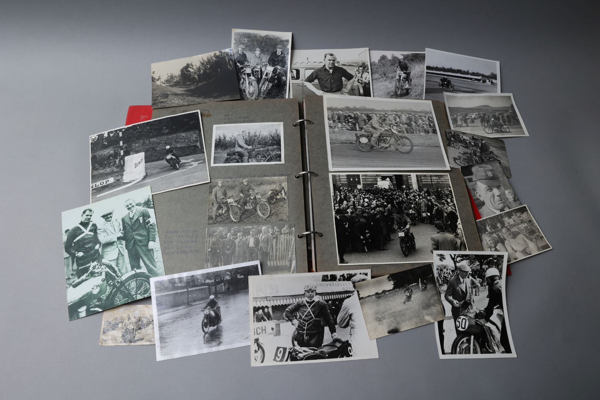 Ex-Jock West, An album of photographs, entitled 'Post war', concentrating mainly on the AJS Porcu...