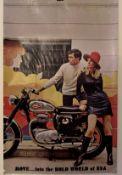A rare and original BSA advertising poster