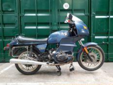 Property of a deceased's estate, 1982 BMW 980cc R100RS Frame no. 6077319 (To plaque) Engine no. 6...