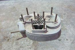 A BSA DBD34 cylinder head