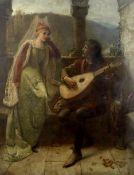 Mary Evelina Kindon (British, active 1879-1918) 'The Song'