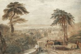 David Cox Snr. O.W.S. (British, 1783-1859) View of the City of Bath from Beacon Hill