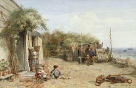 John Henry Mole (British, 1814-1886) The old fisherman's cottage