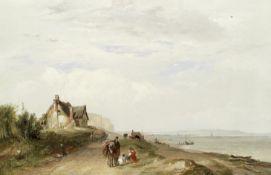 John Frederick Tennant (British, 1796-1872) The coast road