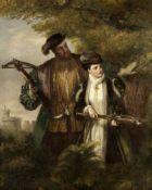 William Powell Frith, RA (British, 1819-1909) Henry VIII with Ann Boleyn deer shooting in Windsor...