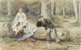 George Goodwin Kilburne, RI, RBA (British, 1839-1924) Gathering bluebells