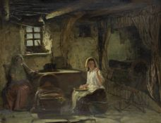 William Stewart (British, 1823-1906) Baby's asleep