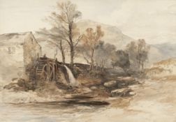 William James Muller (1812 - 1845), A watermill in North Wales