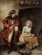 William A. Breakspeare (British, 1855-1914) A kitchen courtship