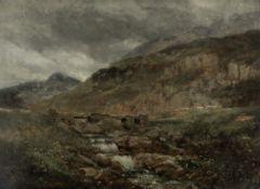 David Cox Snr. O.W.S. (British, 1783-1859) Pont y Garth