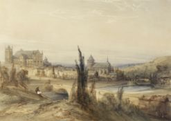 William Callow, RWS (British, 1812-1908) The town of Poitiers, France